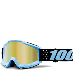 100% Accuri Anti Fog Mirror Goggles sort/turkis